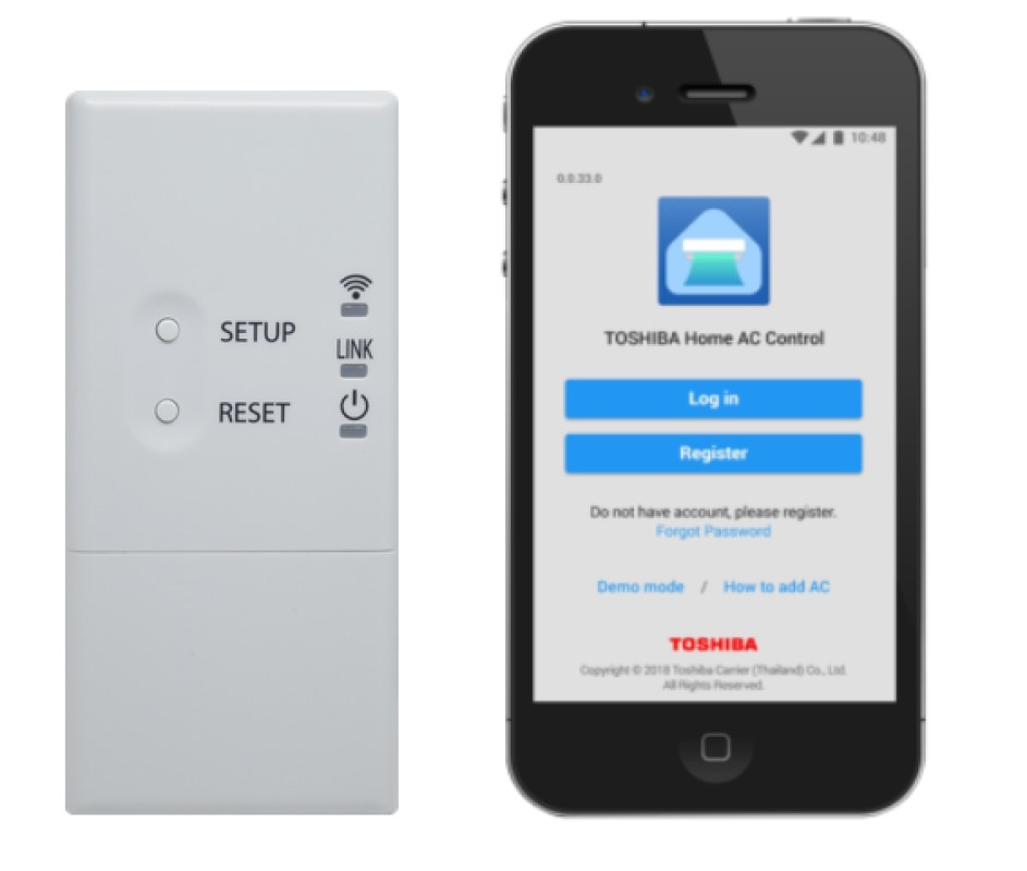 Wireless adapter & Home AC Control app